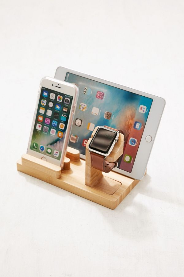 Slide View 1 Wooden Multi Device Charging Dock