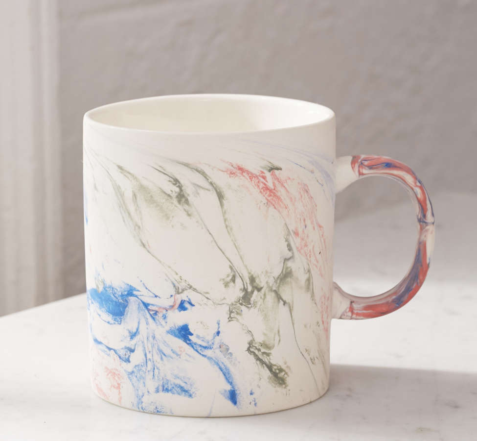 Slide View: 2: Rainbow Marble Mug