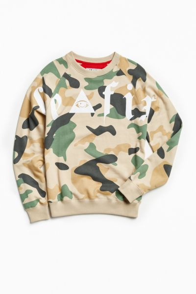 Le Fix Le Eye Camo Crew Neck Sweatshirt - Assorted M at Urban Outfitters