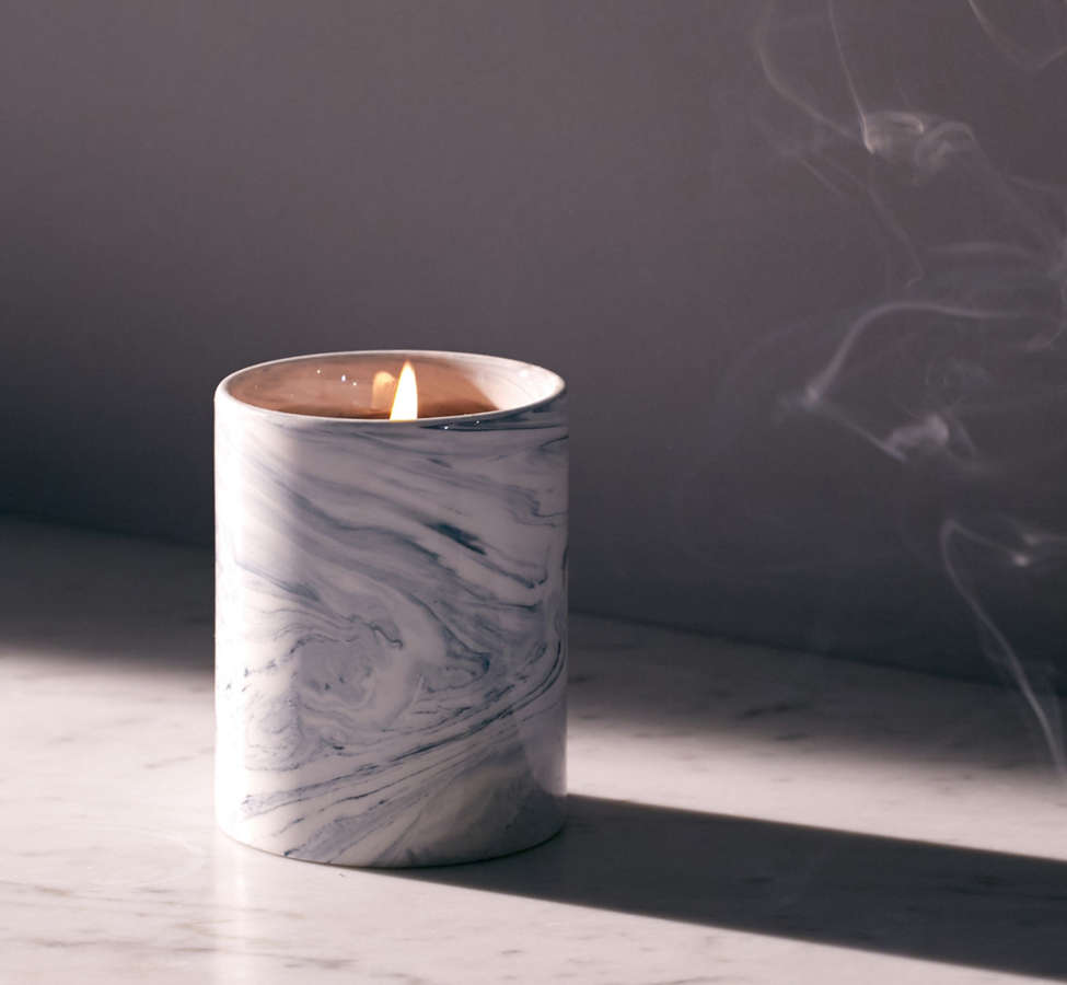 Slide View: 1: Marble Ceramic Soy Candle