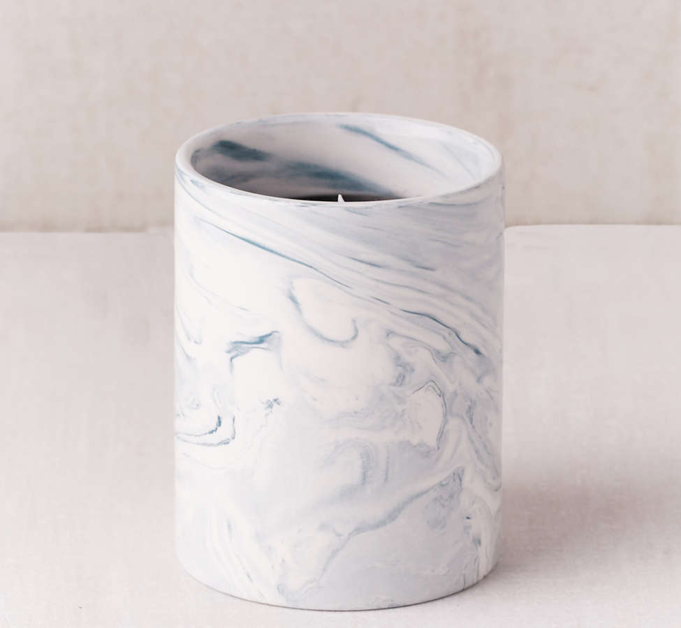 Slide View: 3: Marble Ceramic Soy Candle