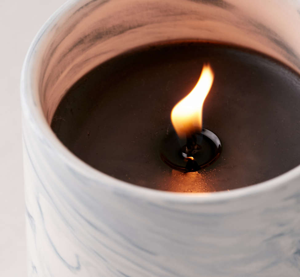 Slide View: 4: Marble Ceramic Soy Candle