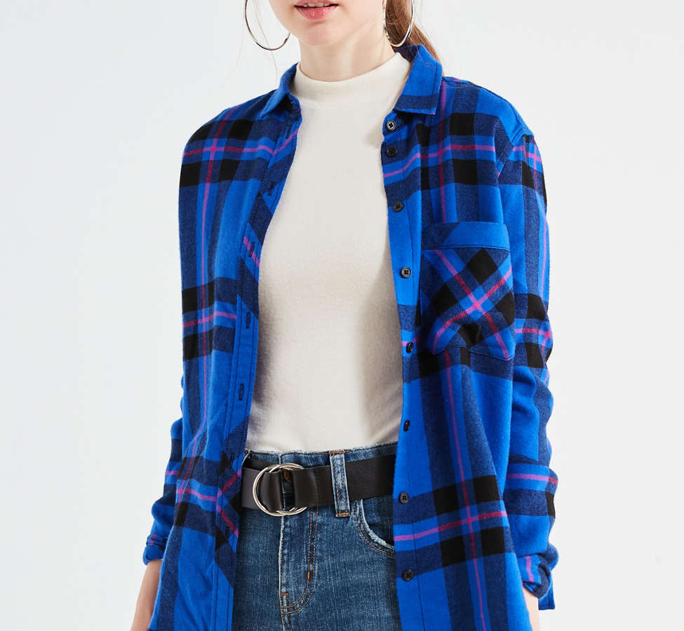 Slide View: 1: BDG Molly Flannel Button-Down Shirt