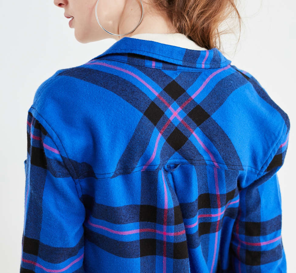 Slide View: 5: BDG Molly Flannel Button-Down Shirt