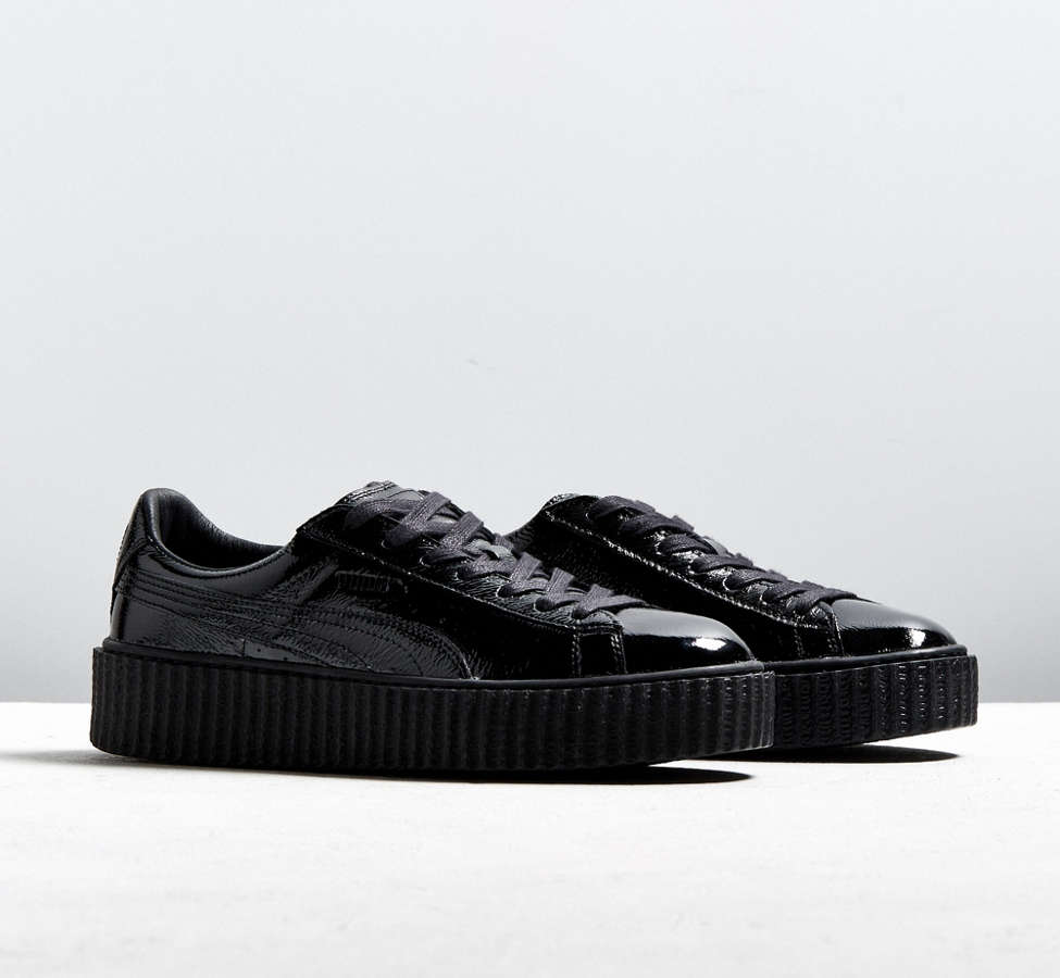 Slide View: 1: Puma Fenty By Rihanna Mens Cracked Leather Creeper Sneaker