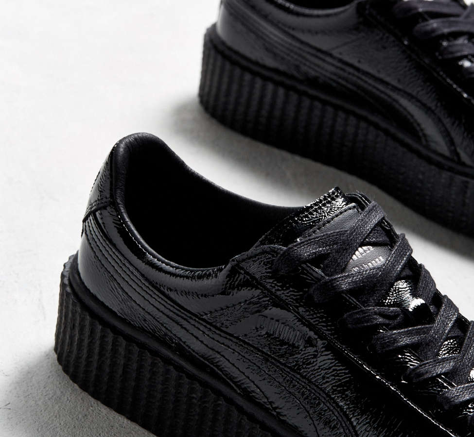 Slide View: 4: Puma Fenty By Rihanna Mens Cracked Leather Creeper Sneaker