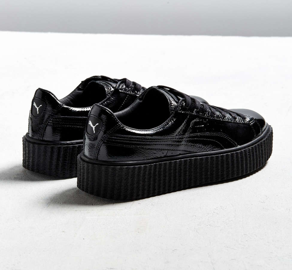Slide View: 5: Puma Fenty By Rihanna Mens Cracked Leather Creeper Sneaker
