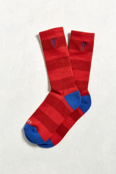 Carrots Striped Sock - Red One Size at Urban Outfitters
