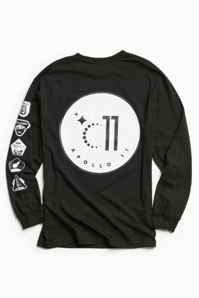Apollo 11 Long Sleeve Tee - Black S at Urban Outfitters