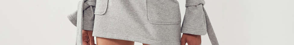 Thumbnail View 5: J.O.A. Crew-Neck Tie-Sleeve Sweatshirt