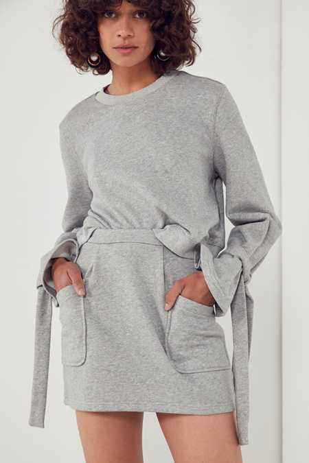 Slide View: 1: J.O.A. High-Rise Sweatshirt Mini Skirt