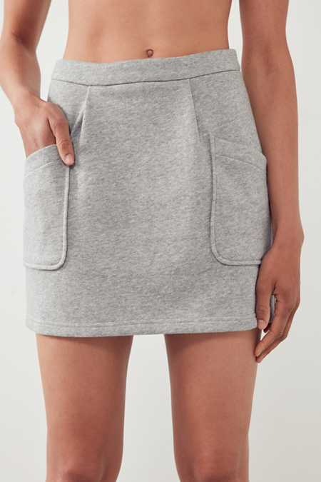 Slide View: 3: J.O.A. High-Rise Sweatshirt Mini Skirt