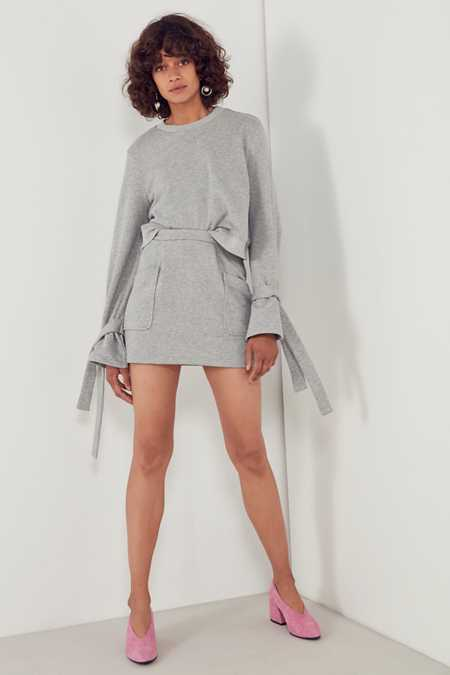 Slide View: 6: J.O.A. High-Rise Sweatshirt Mini Skirt