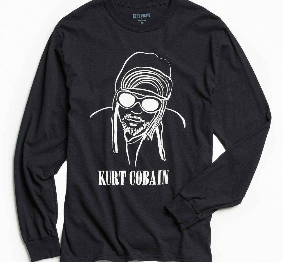 Slide View: 1: T-shirt Kurt Cobain à manches longues de DEERDANA