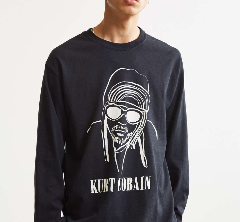 Slide View: 5: T-shirt Kurt Cobain à manches longues de DEERDANA