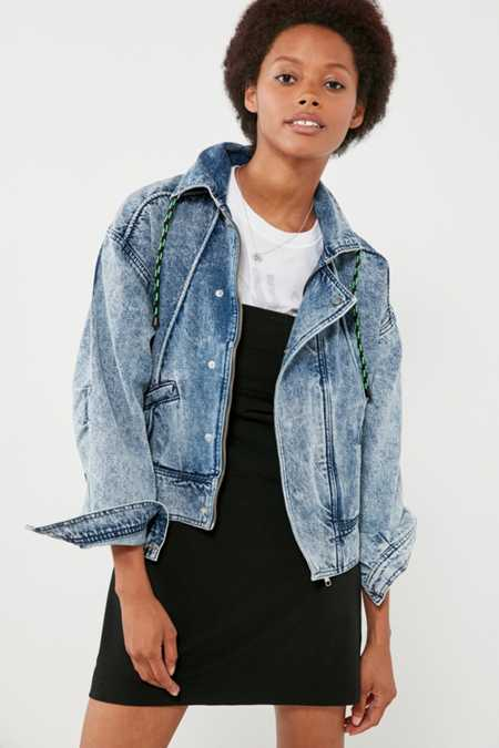 BDG Acid Wash Zip Denim Jacket
