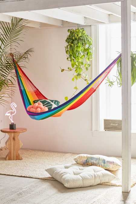 Yellow Leaf Rainbow Double Hammock