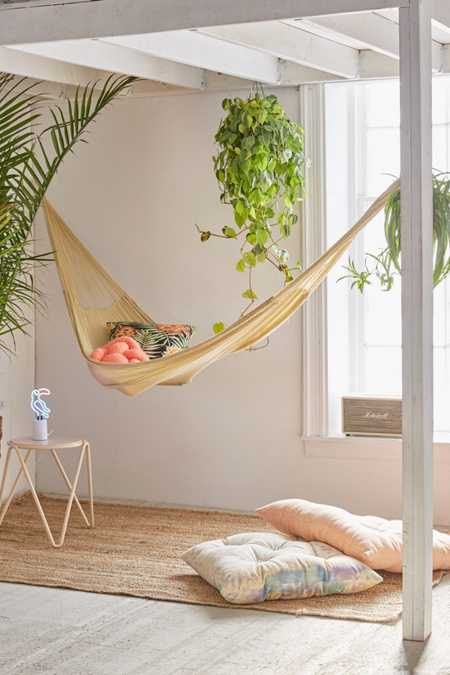 Yellow Leaf Natural Double Hammock