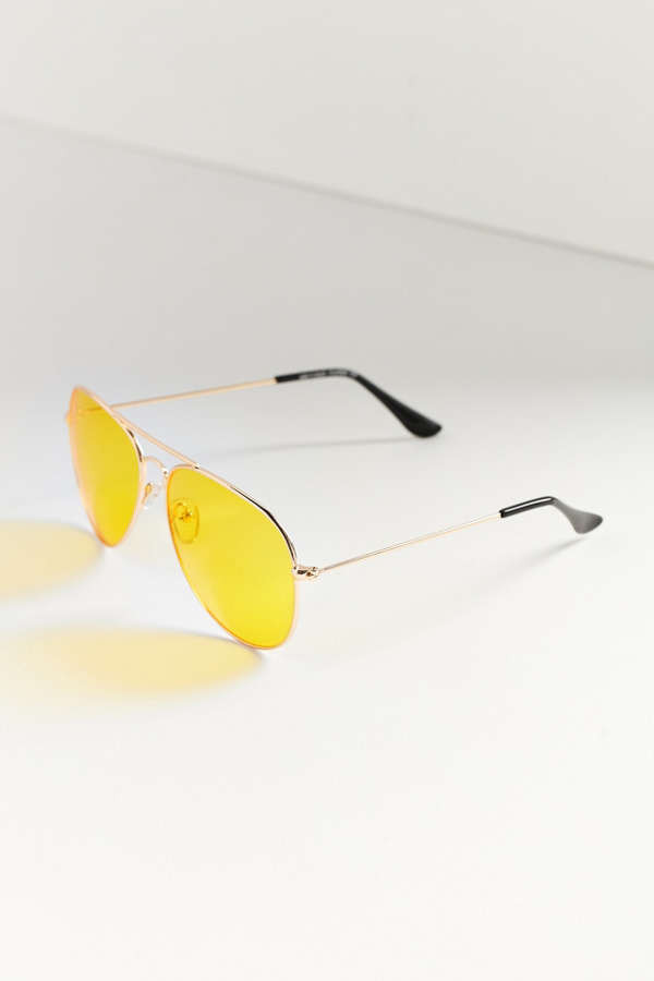Slide View: 2: Vintage Aviator Sunglasses