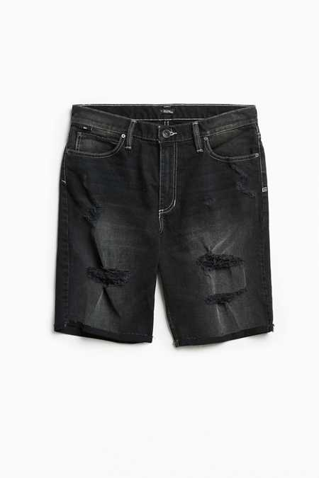 BDG Contrast Stitch Destructed Denim Short