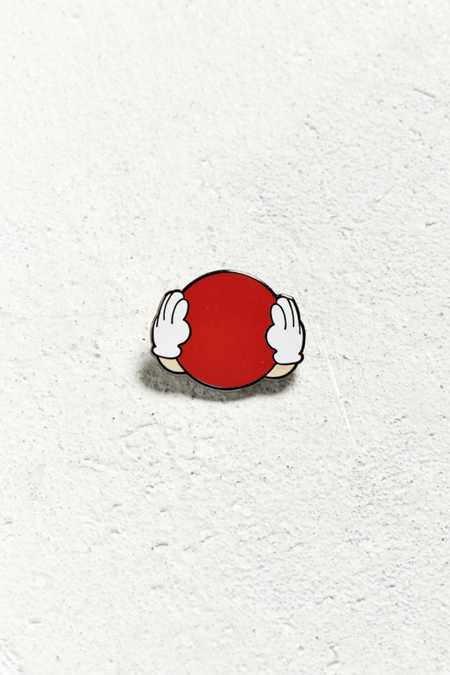 Pintrill Hear No Evil Red M&M Pin