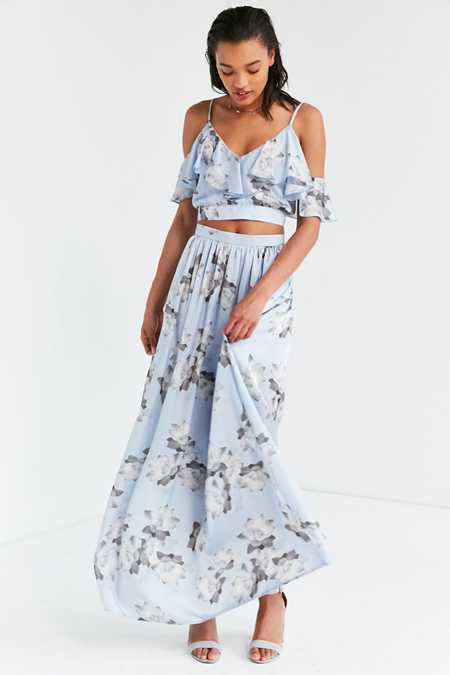 Oh My Love Veratrum High-Rise Maxi Skirt