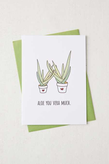 Humdrum Paper Company Aloe You Card