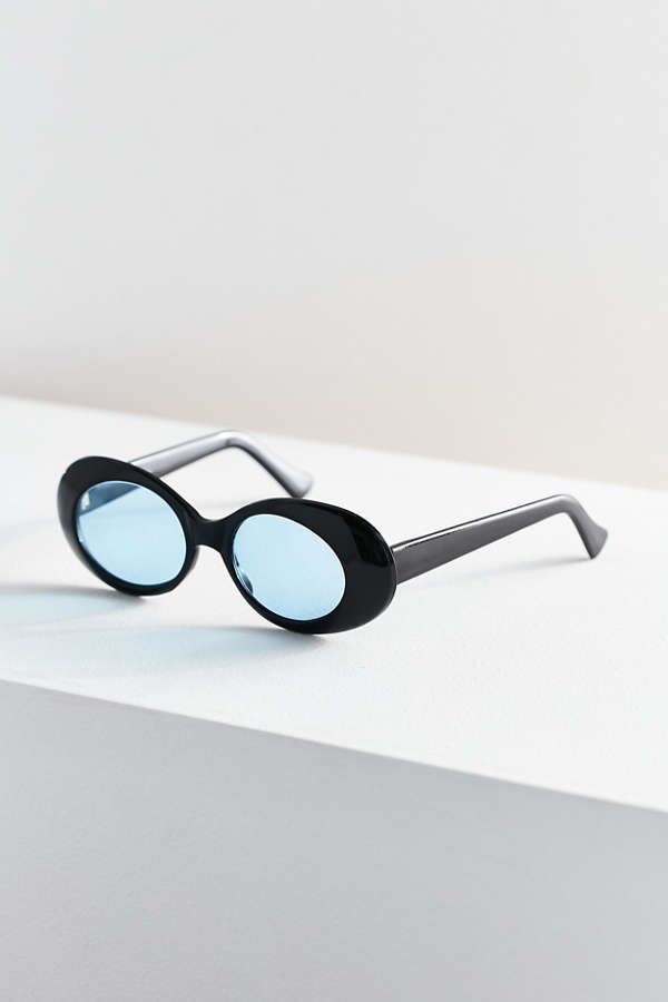 Slide View: 2: Vintage Kels Oval Sunglasses