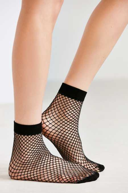 Out From Under Glitter Fishnet Ankle Sock