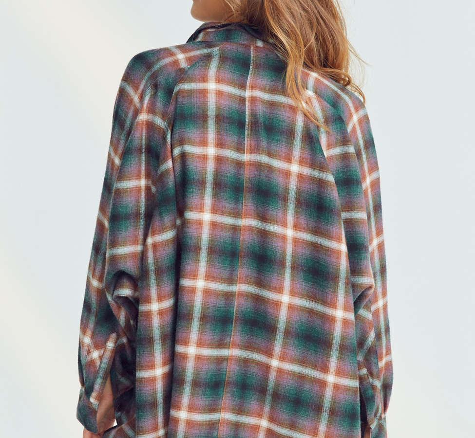 Slide View: 6: BDG Brendan Cozy Flannel Button-Down Shirt