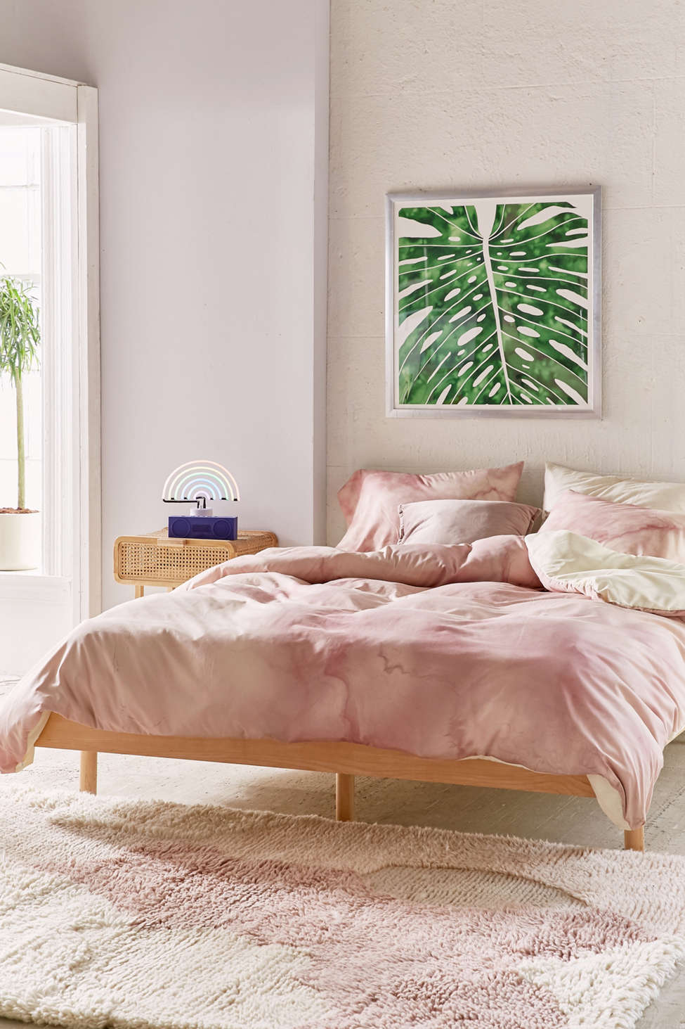 Chelsea Victoria For Deny Rose Gold Marble Duvet Cover