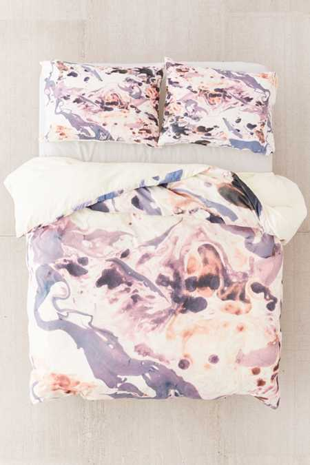Amy Sia For DENY Marbled Terrain Duvet Cover