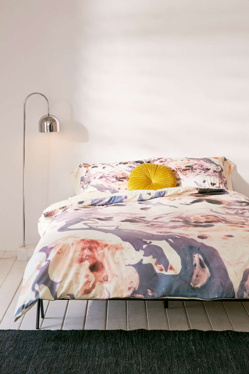 Slide View: 2: Amy Sia For DENY Marbled Terrain Duvet Cover