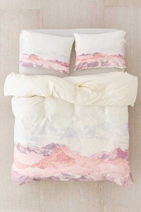 Slide View: 2: Iveta Abolina For Deny Pastel Mountains III Duvet Cover