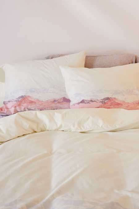Slide View: 3: Iveta Abolina For Deny Pastel Mountains III Duvet Cover