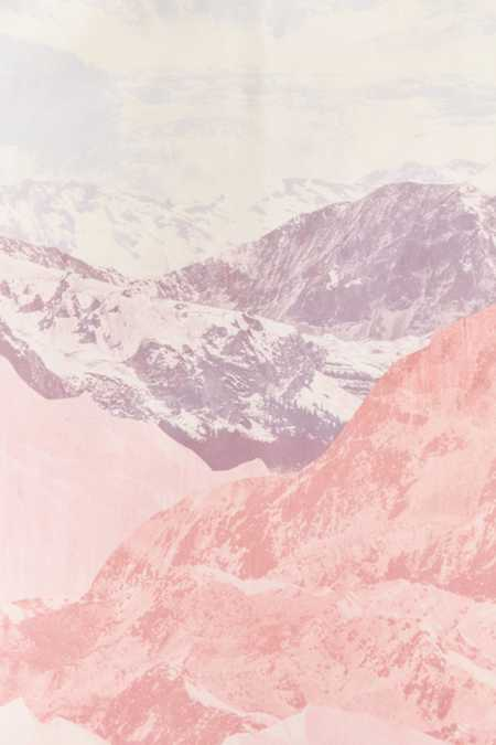 Slide View: 5: Iveta Abolina For Deny Pastel Mountains III Duvet Cover