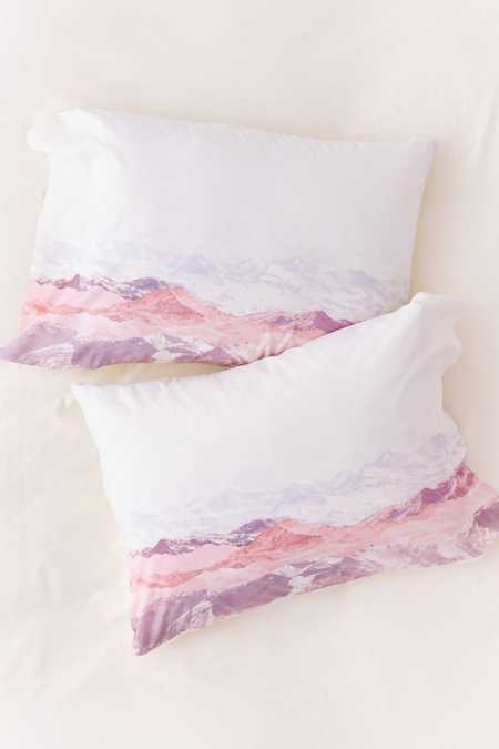 Iveta Abolina Pastel Mountains III Pillowcase Set
