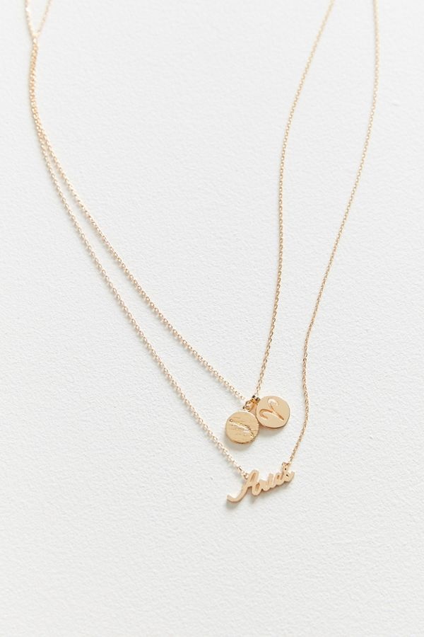Zodiac layering charm necklace set urban outfitters slide view 2 zodiac layering charm necklace set aloadofball Choice Image