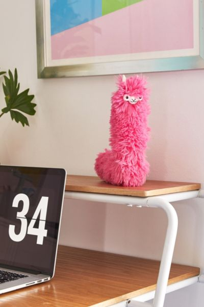 Llama Desk Duster - Pink One Size at Urban Outfitters