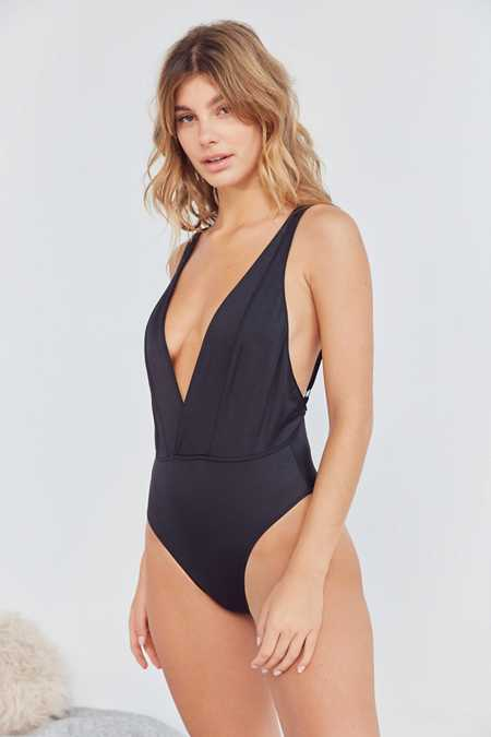 Out From Under Slinky Super Plunging Bodysuit