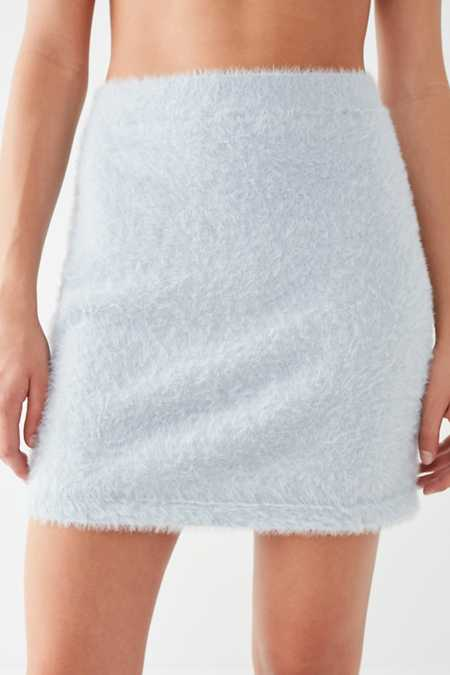Slide View: 2: Finders Keepers Wildfire Fuzzy Mini Skirt
