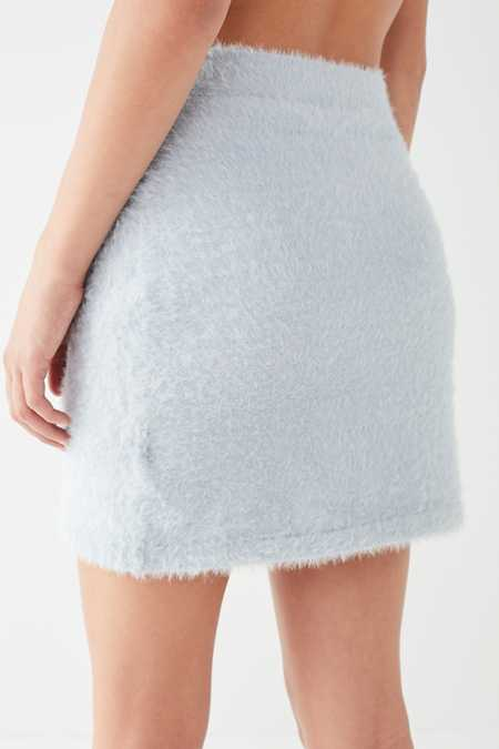 Slide View: 4: Finders Keepers Wildfire Fuzzy Mini Skirt