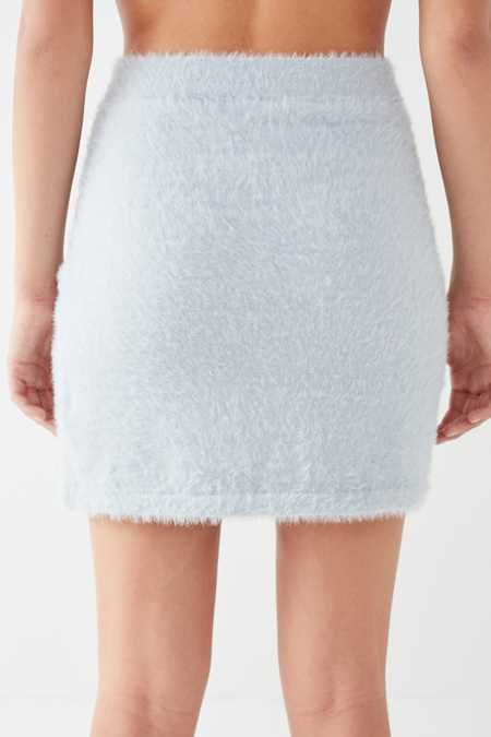 Slide View: 5: Finders Keepers Wildfire Fuzzy Mini Skirt