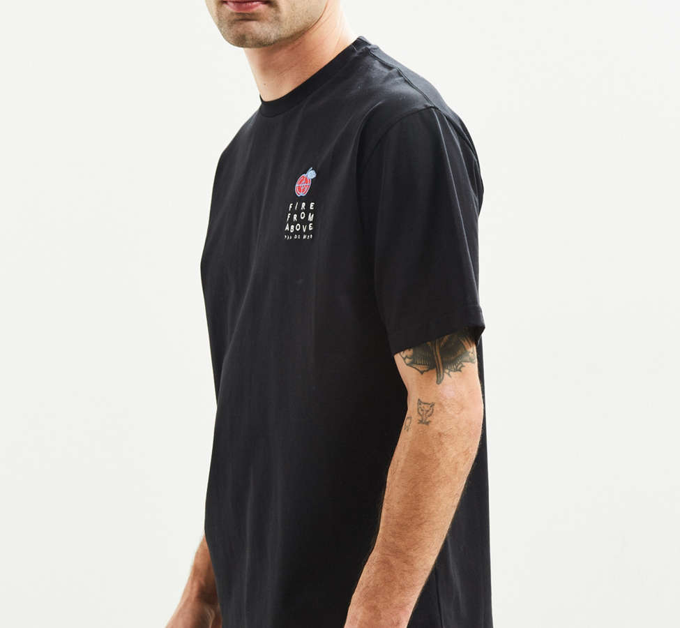 Slide View: 4: Pas de Mer Embroidered Fire From Above Tee
