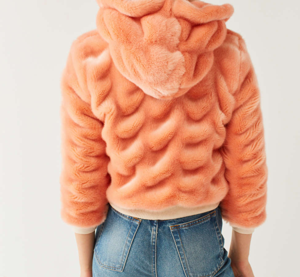Slide View: 6: Lykke Wullf Faux Fur Bomber Jacket