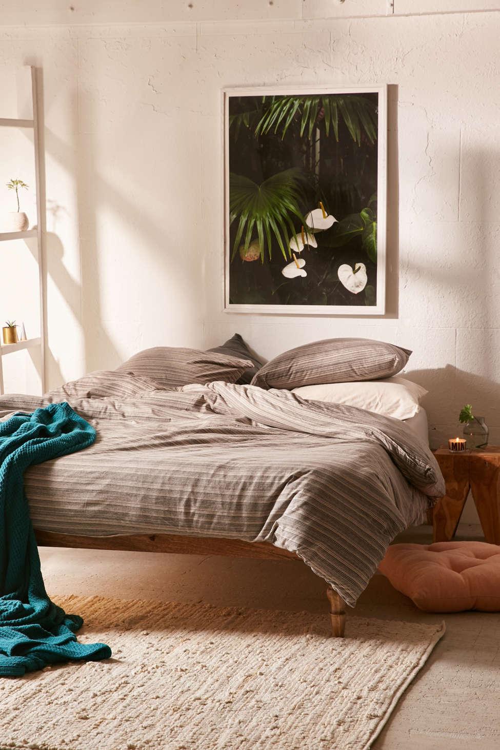 Slide View: 1: Corey Yarn-Dye Stripe Jersey Comforter