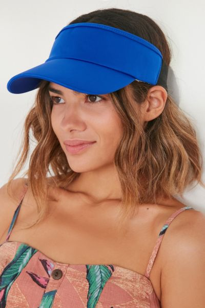 Neoprene Contrast Elastic Visor - Sapphire One Size at Urban Outfitters