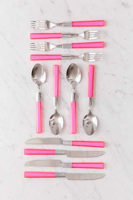 12-Piece Acrylic Color Pop Flatware Set