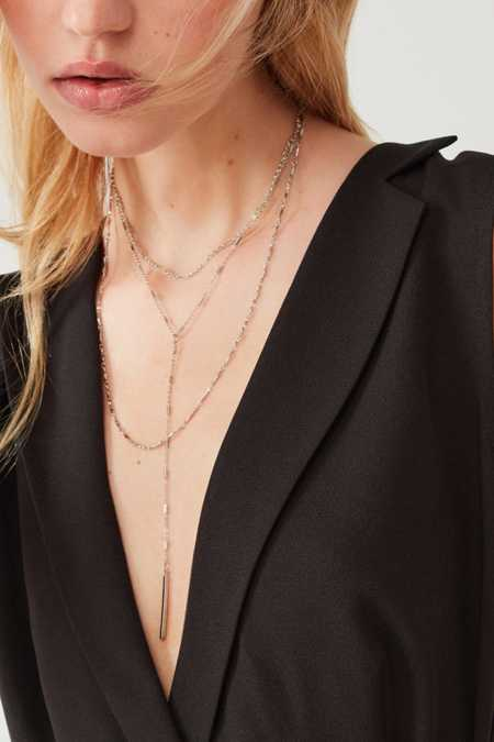 Elise Delicate Lariat Necklace
