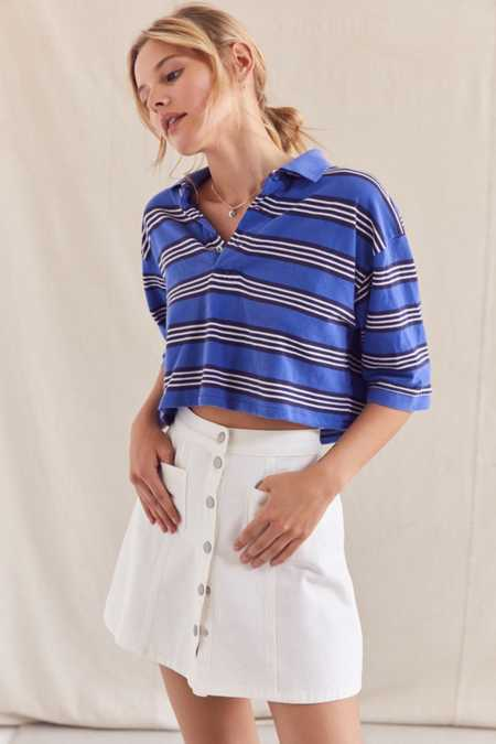 Urban Renewal Recycled Cropped Short Sleeve Polo Shirt